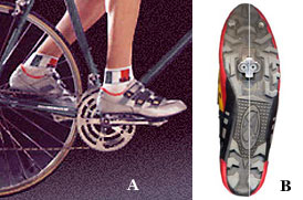 how to put on bicycle cleats